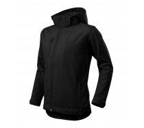 Fekete gyerek softshell kabát